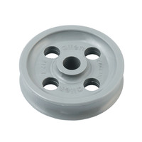 49mm x 12mm  x 8mm Plain Acetal Sheave with holes