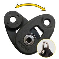 Mini snatch block, sheave 32mm black