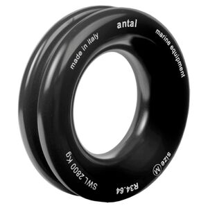 34mm Black anodised aluminium sold rings
