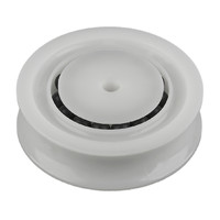 "Sheave, 2""(51mm) OD, White Delrin, BB"